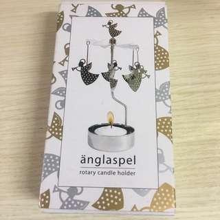 anglaspel旋轉蠟燭台擺設