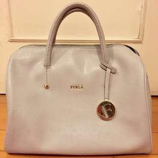 FURLA bucket bag light Grey 100%REAL 99% NEW handbag