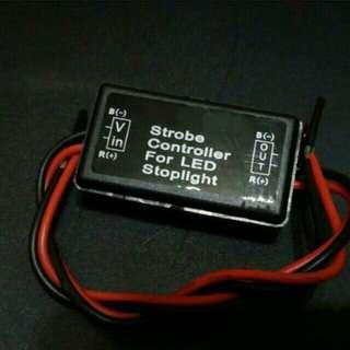 Strobe lights brake controller