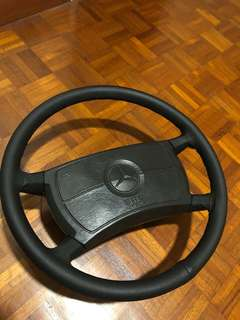 Mercedes Benz airbag cladding steering wheel