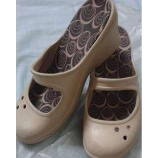 SALE!! Original Authentic Light Brown Crocs Wedge