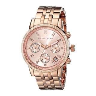 Auth MK Rosegold Watch