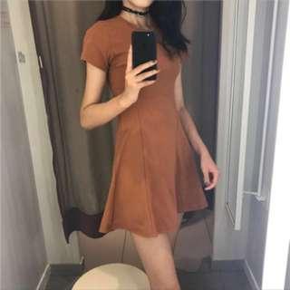 秋冬磚紅土色❤️彈力貼身連身裙 婚禮 禮服 #手滑買太多