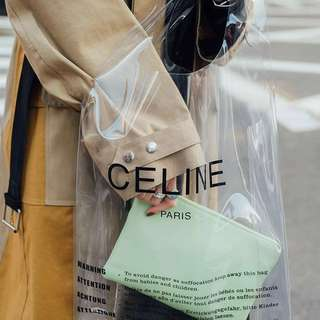 Celine clear tote bag