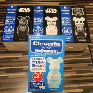 Be@rbrick Cleverin 淨化除菌擺設(star wars,怪誕城,黑武士,bearbrick)