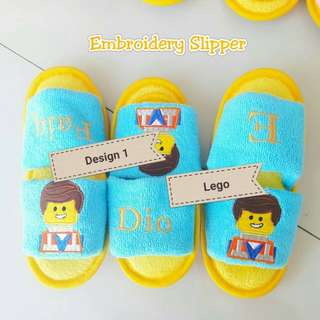 Children bedroom slipper customised names gift goodies bag