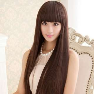 PO straight bang ladies long hair wig *Waiting time 12 days after payment is made *pm to order