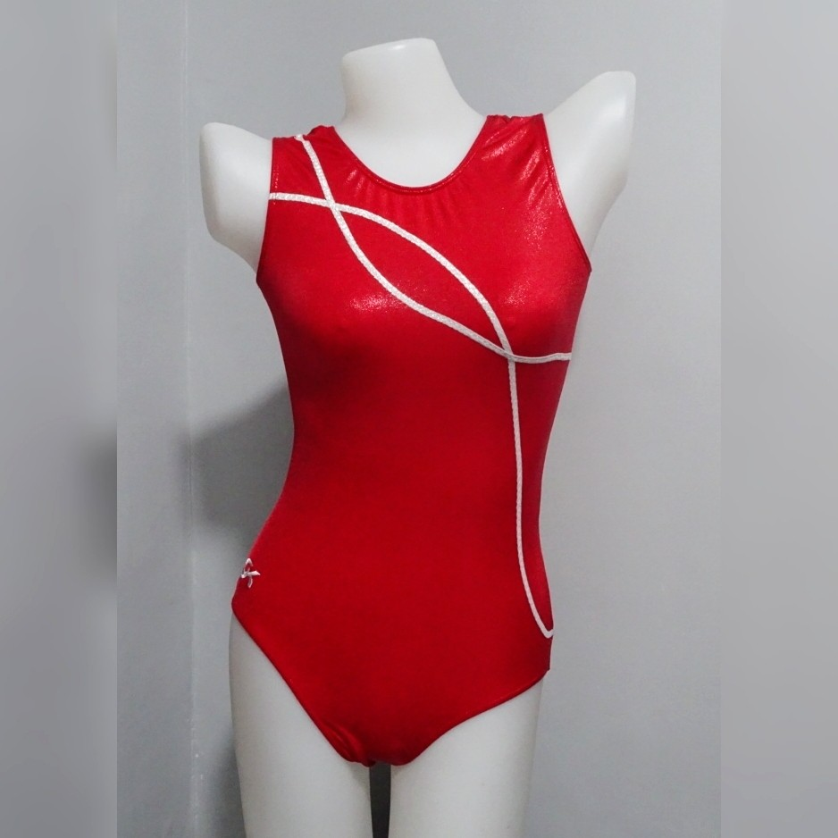 1pc Shiny Red Swimsuit (S009)