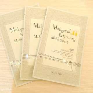 Holika Holika Makgeolli Brightening Mask Sheet 1 package (10 pieces)