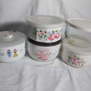 Assorted Canisters with Cover