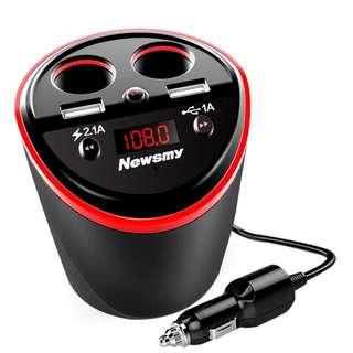 播放器藍牙接收器汽車充電器 藍芽通話播歌,導航,充電