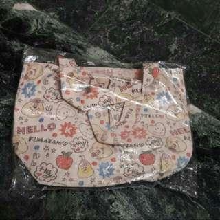 【贈送】全新可愛日貨帆布提袋