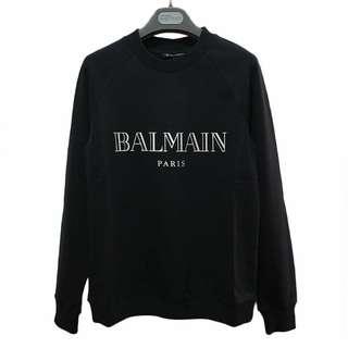 BALMAIN  logo印花套頭衫