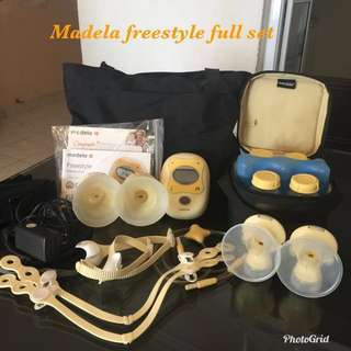 Combo :Medela Freestyle & Avent 3-in-1 bottle sterilizer