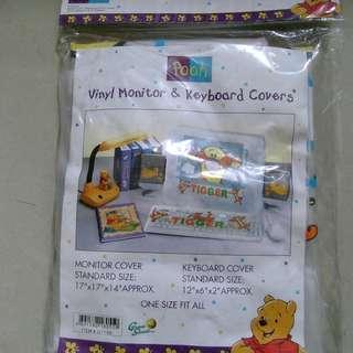 全新100%正版 Winnie the Pooh 維尼熊 跳跳虎 電腦螢幕及鍵盤套 Monitor Keyboard Cover