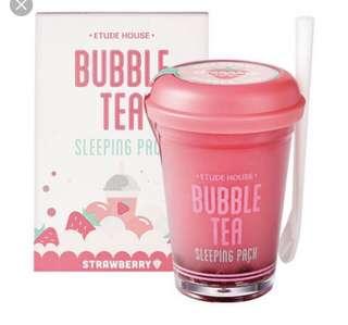 BN Etude House Bubble Tea Sleeping Mask - Strawberry