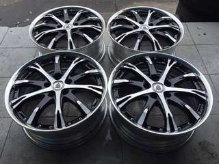 "Rim 19"" WORK SCHWERT SC4 ORIGINAL JAPAN"