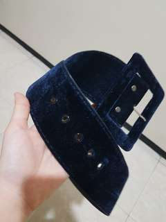 Bludru navy blue belt