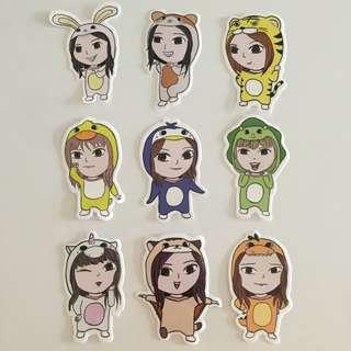 Twice in Animal onesie Stickers