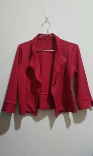 Blazer Merah Formal/Santai