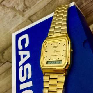 Casio OEM dual time watch