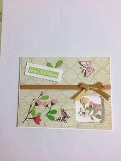 Friendship/Seasons/Greeting Card