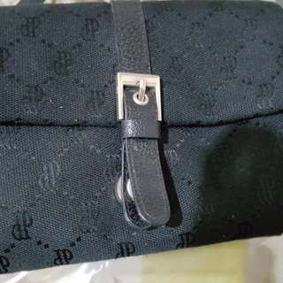 Black  Perlini fabric sling/ wrislet bag
