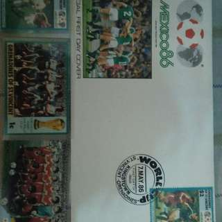St. Vincent Mexico 1986 World Cup stamps.