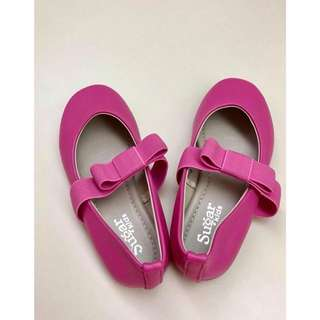 Sugar Kids pink bow ballet shoes / flats