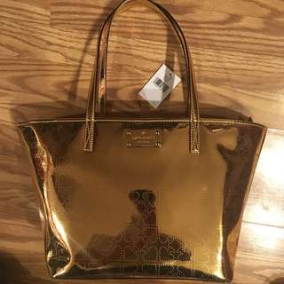 🔥💼 ♠️BNWT AUTHENTIC GOLD KATE SPADE PURSE  💼 🔥