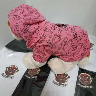 Hello kitty pink hoodie for pet dog or cat