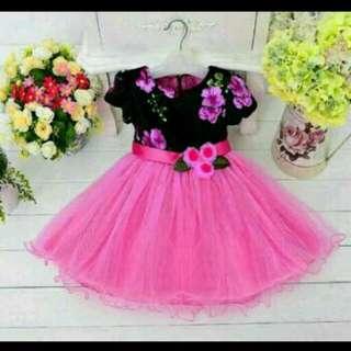 Dress Pesta Anak Pink