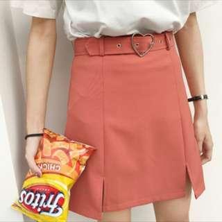 Salmon Pink Skirt (+ Belt)