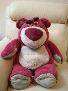 特大勞蘇熊/嘮蘇熊(草莓味/士多啤梨味) 玩具總動員 原裝正版香港迪士尼卡通公仔 Giant/Huge Lotso Bear/Fluffy with strawberry smell/flavour (Toy Story, from Hong Kong HK Disneyland) 17吋Hx13吋Wx14吋D