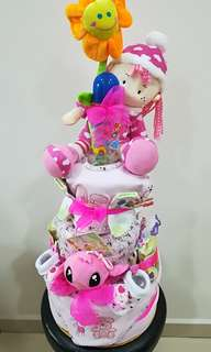 Diaper Cake - 3 Tiers (For Baby Girl)