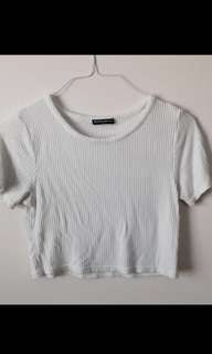 Brandy Melville ribbed crop top