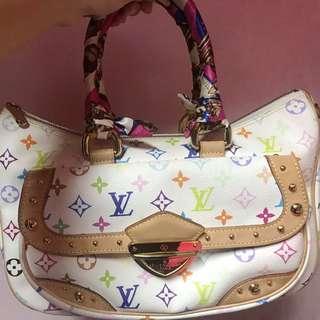 Authentic Louis Vuitton Multicolor Rita White