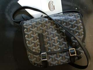 Goyard Black Canvas Crossbody Bag