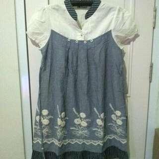 Maternity dress / gaun hamil denim look #momratu