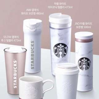 [PO] Starbucks Korea Marble White Collection