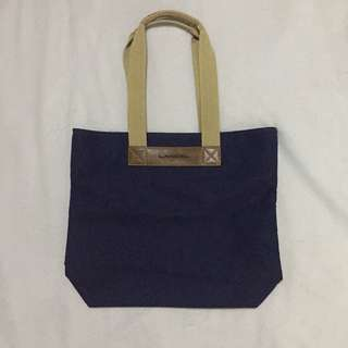 Lancel Canvas with Genuine Leather Tote Bag
