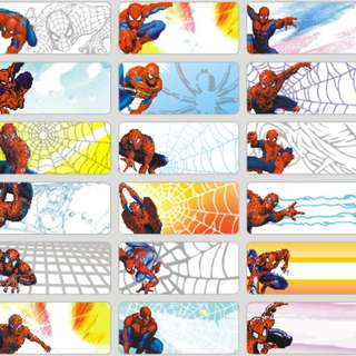 Name Stickers - Spiderman