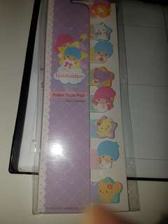 Sanrio Little Twin Stars Kiki Lala Post It note