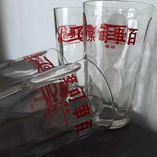 Left 3 Vintage 1970s Pepsi-Cola 百事可乐 Drinking Glass
