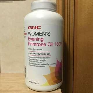 ☆緩和女性週期不適☆ GNC月見草油1300mg (180粒)  GNC Women's Evening Primrose Oil