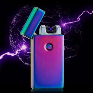 Double Plasma / Arc Electronic Rechargeable Lighter / Comes with USB Cable and Gift Box!