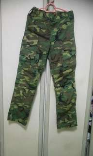 Camouflage Long pants ( Unisex, Size S-27 inches)