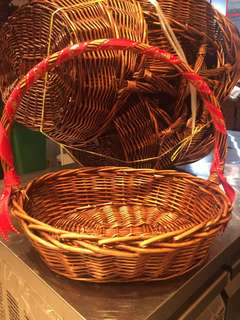 New! 10 x Rattan wicker basket (medium size) for sale