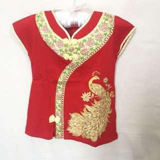 #MakinTebel Baby cheongsam red dress