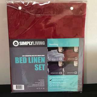 Full Set Super Single bed sheet